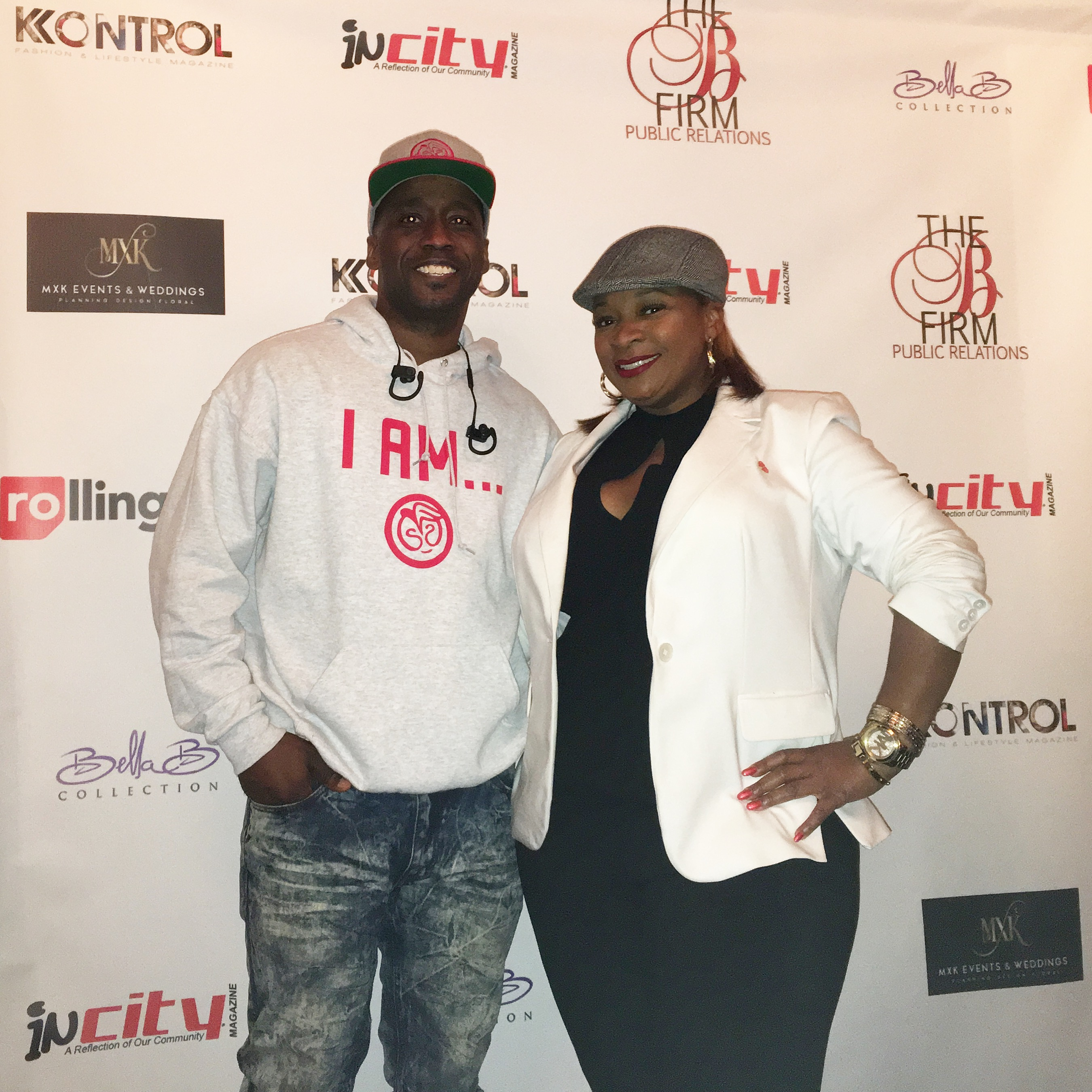 pictured: Christopher Thomas (inCity Magazine), Miss Monique (iHeart Radio)
