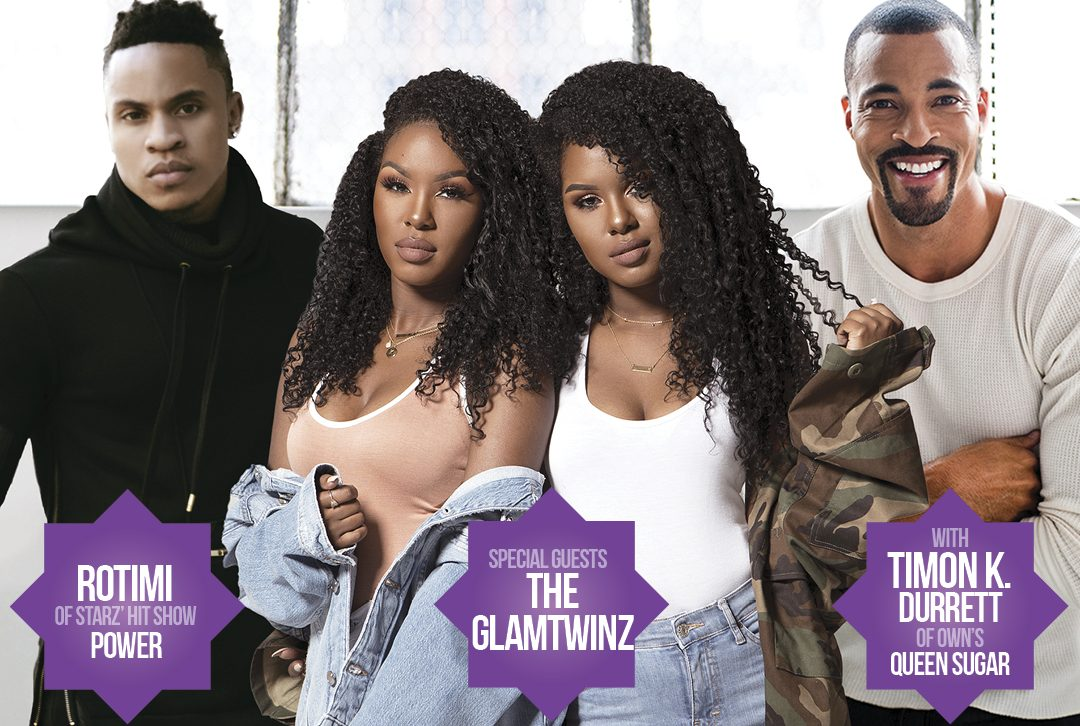 Natural Hair & Health Expo #NHHE2018: Celebrity Guests Rotimi from Power, GlamTwinz, Timon K Durrett, and Jasmine Sanders of the DL Hughley show