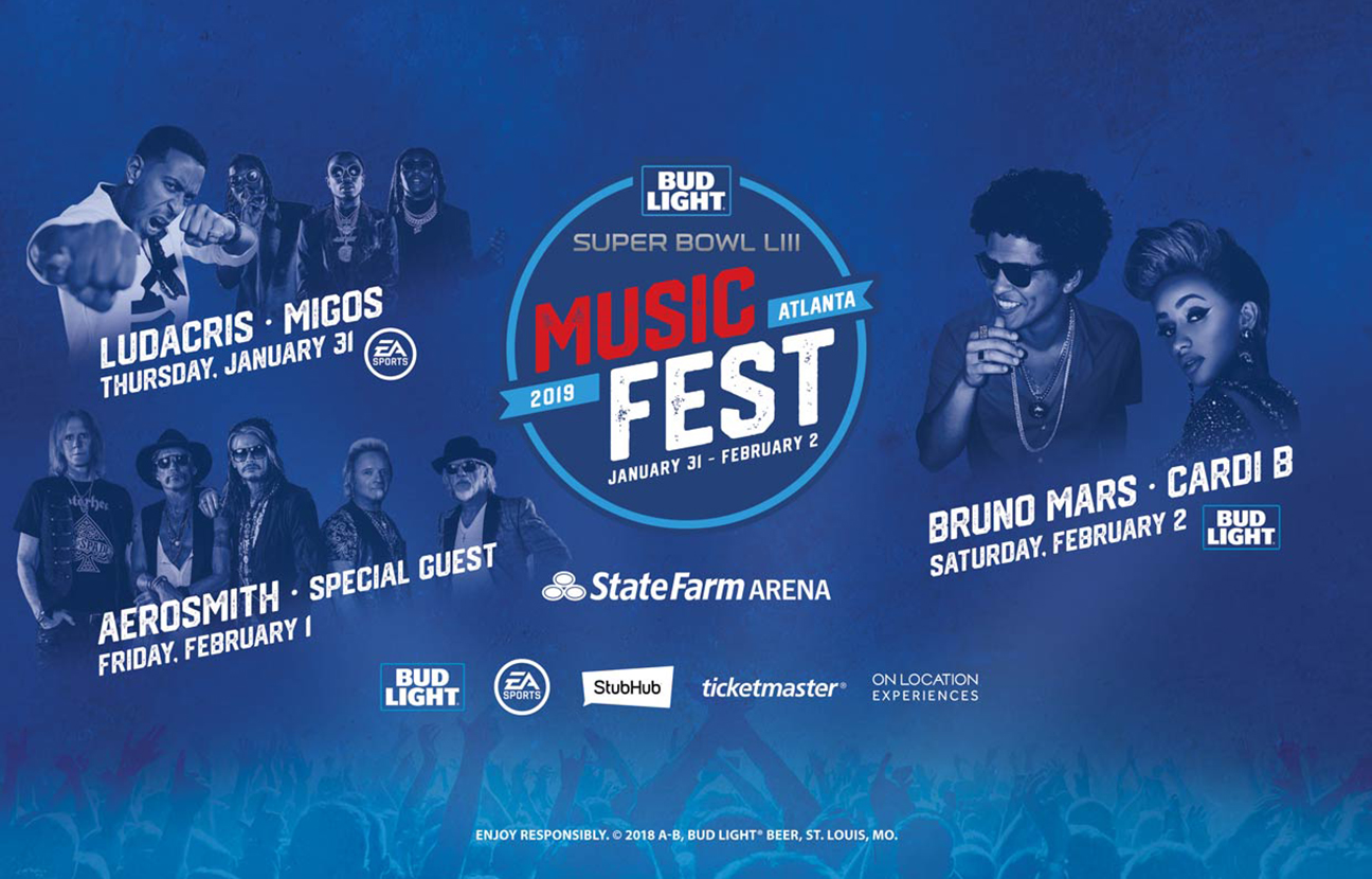 Bud Light Super Bowl Festival Taps Cardi B, Bruno Mars, Migos and More