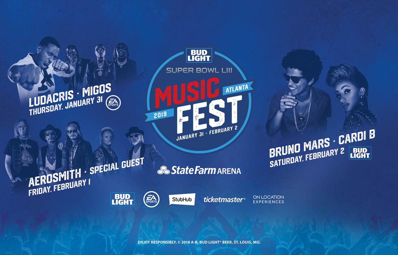 Bud Light Super Bowl Festival Taps Cardi B, Bruno Mars, Migos and More