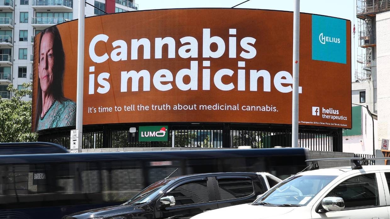 Cannabis company Helius Therapeutics removes billboards after complaints