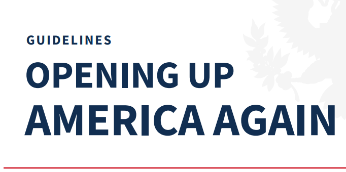 President Trump Unveils 'Opening Up America Again'